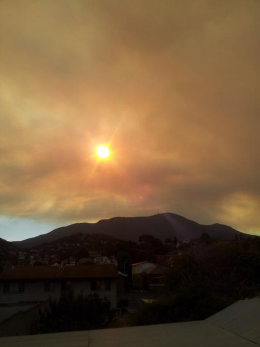 Mt Wellington, Hobart from my back door