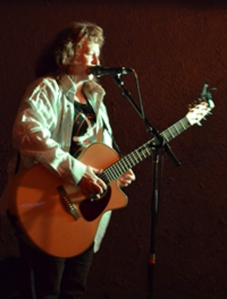 On Stage at Casbah Cafe