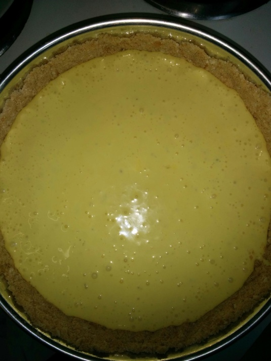 Cheesecake ready for baking