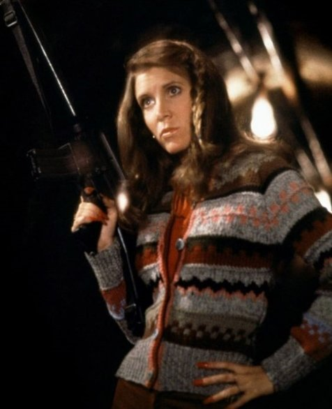 Carrie Fisher as The Mystery Woman in The Blues Brothers